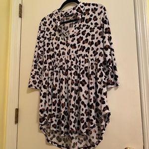 Heimish Leopard Babydoll Top